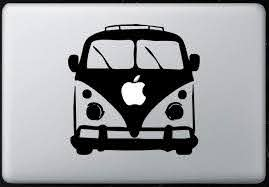 Amazon Com Vw Bus Sticker Decal Macbook Air Pro All Models Computers Accessories