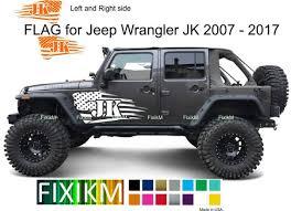 For Jeep Wrangler Jk American Flag Vinyl Decal Body Graphics Etsy