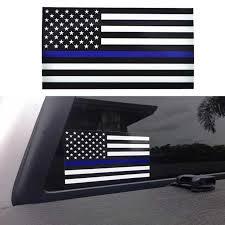 1pcs Police Officer Thin Blue Line American Flag Vinyl Decal Car Sticker Car Sticker Car Decal Stickerdecals Car Aliexpress