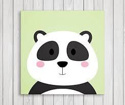 Cute Little Animals Nursery Canvas Print Wall Decor Baby Kid Room Canvas Art Print Safari Animals Poster Wall Art Panda Things