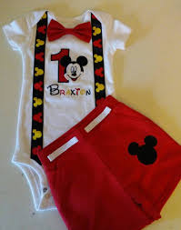 Mickey Mouse 1st Birthday Outfit Traje De Mickey Cumpleanos De