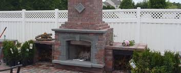 fireplace simple outdoor brick plans