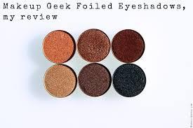 makeup geek foiled eyeshadows my