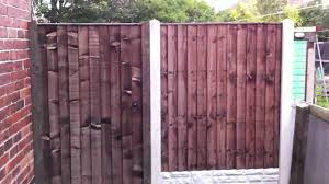 Garden Gate Infill Fence Concrete Fence Posts Gravel Boa Youtube