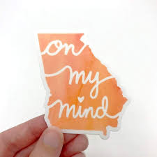 Georgia On My Mind Vinyl Sticker Georgia Crafted
