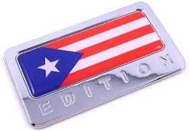 Amazon Com Puerto Rico Edition Chrome Emblem Puerto Rican Flag 3d Decal Car Bike Badge Automotive