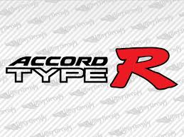 Honda Accord Type R Decal Stickers