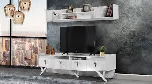 Hanem Beyaz Tv Ünitesi - İrfan Home Mobilya