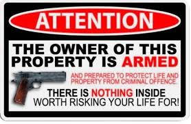 Owner Armed 5 5 Wide Car Truck Decal 2nd Gun Sticker Etsy
