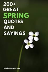 happy and inspirational spring quotes sayings flowers love