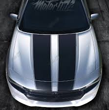 2015 2016 2017 2018 Dodge Charger Hood Blackout Rally Stripes Racing Graphics Decals Motorink