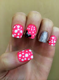 Disney Minnie Mouse Nails Mickey Gel Nail Designs - NailTintArtist