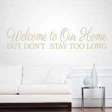 Shop Welcome To Our Home 46 Inch X 10 Inch Entryway Wall Decal On Sale Overstock 10706369