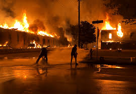 Flames After People Protest The Murder ...