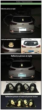 New Hot Scary Reflective Car Graphics Decal 3m Rear Window Sticker Ghost Vinyl Car Wrap To Diacourage High Beam Buy Car Graphics Decal Rear Window Sticker Ghost Vinyl Car Wrap Product On Alibaba Com