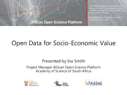 Open Data for Socio-Economic Value/Ina Smith
