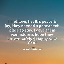 hope love health peace joy arrive and stay you this year