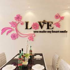 Lovely Love You Make My Heart Smile Diy Wall Sticker Acrylic Wall Stickers 3d Three Dimensional Crystal Home Decorations Home Decor Acrylic Wall Stickerwall Sticker Aliexpress