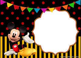 Free Printable Cheerful Mickey Mouse Birthday Invitation