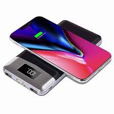 ĐÈN LED 50000 mAh Power Bank Sạc Không Dây QI 2A Dual USB Dự Phòng  Powerbank Cho Iphone X 8 Samsung S9 Pin Sạc sạc không dây|