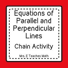 perpendicular lines ladder activity