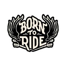 Skull A26 Born To Ride Sticker Harley Davidson Style Motorcycle Helmet Decal