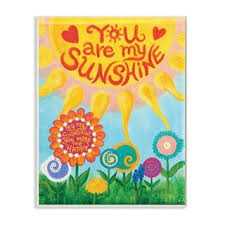 Shop The Kids Room By Stupell You Are My Sunshine Wood Wall Art 10 X 15 Proudly Made In Usa 10 X 15 Overstock 30337381