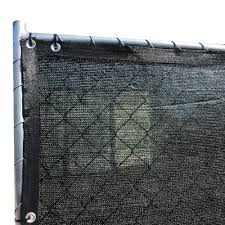 Fence4ever 68 In X 25 Ft Black Privacy Fence Screen Plastic Netting Mesh Fabric Cover With Reinfo In 2020 Privacy Fence Screen Fence Screening Privacy Screen Outdoor