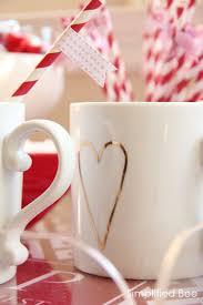 gold heart Valentine's mug via @elise West elm