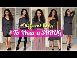 How To Wear a Long SHRUG In Different Ways   1 Shrug 5 Styles   Himani  Aggarwal - YouTube   Long shrug, Shrug, How to wear