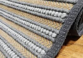 wool rug gray bedside rug striped woven