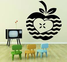Decal Apple Heart Student Teacher Classroom 20x30 Contemporary Wall Decals By Design With Vinyl