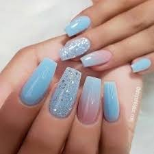 40 colorful coffin acrylic nails to