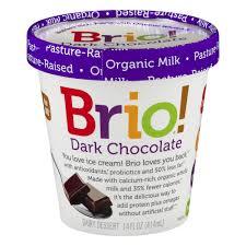 brio dark chocolate ice cream 14oz