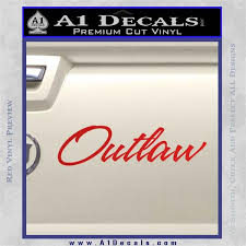 Outlaw Decal Sticker Script A1 Decals