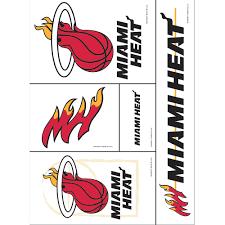 Miami Heat Decals 5ct Party City