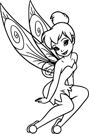 Tinkerbell Fairy Disney Wall Car Laptop Vinyl Window Sticker Decal 3 9 X 6 Ebay Tinkerbell Coloring Pages Fairy Coloring Pages Disney Coloring Pages