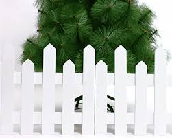 Amazon Com Red Cherry 1 2m White Joint Wooden Fence Christmas Decorations Home Kitchen