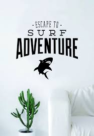 Escape To Surf Adventure Quote Decal Sticker Wall Vinyl Decor Art Livi Boop Decals