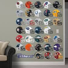 Nfl Helmet Collection Nfl Nfl Wall Decals Wall Decal Sticker Football Themed Room