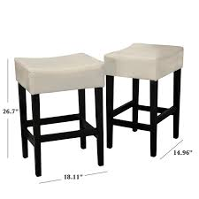 home decor fern leather counter stool