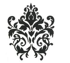 Oversized Black Damask Home Dzecor Vinyl Wall Sticker Decal 56x46