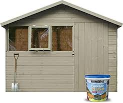 Ronseal 9l Fence Life Plus Garden Shed Fence Paint Uv Potection All Colours 9l Warm Stone Amazon Co Uk Diy Tools