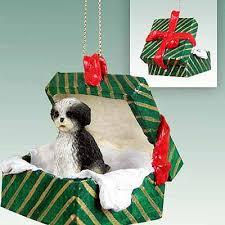 shih tzu gift box ornament