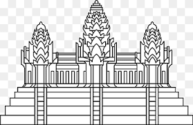 Khmer Empire Angkor Wat French Protectorate Of Cambodia Language Asia Landmark Text Symmetry Monument Png Pngwing