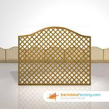 Omega Diamond Trellis Fence Panels 5ft X 6ft Brown Berkshire Fencing
