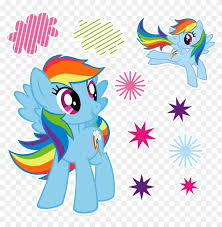 My Little Pony Rainbow Dash Wall Decals Scenes 10 Pieces Happy Birthday My Little Pony Free Transparent Png Clipart Images Download