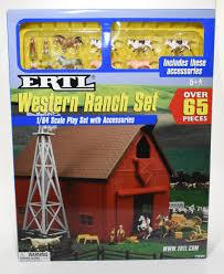 1 64 Western Ranch Barn Set Playset With Animals Windmill Fence Daltons Farm Toys