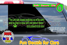 Ecclesiasticus 38 4 Vinyl Decal Die Cut Stickers Fun Decals For Cars