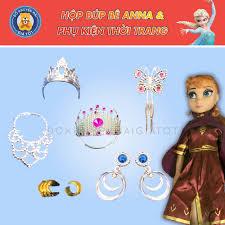 Bộ đồ chơi búp bê công chúa mô hình nhân vật phim hoạt hình xinh xắn có kèm  vương miện, bông tai, dây chuyền cho bé gái ZS8818B